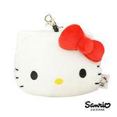 【日本進口正版】凱蒂貓 HelloKitty 大頭造型 彈力 票夾零錢包 票卡包 三麗鷗 Sanrio - 856866
