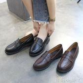 牛津鞋復古小皮鞋女夏季新款平底學生英倫學院風樂福鞋休閒單鞋 蘿莉小腳ㄚ