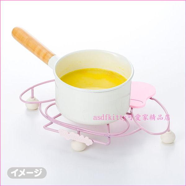 asdfkitty可愛家☆美樂蒂粉色鍋墊/隔熱墊/花器架-內層是鋼質-日本正版商品