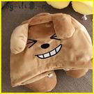 充氣枕-頸枕可愛卡考獅子連帽U型枕屁桃午休睡枕帶帽子護頸枕