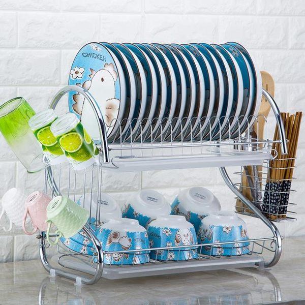 雙11優惠搶先購-瀝水架碗架晾放盤子架滴水碗碟架子餐具收納廚房置物架用品儲物架BLNZ