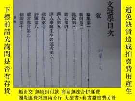 二手書博民逛書店罕見文選學(精裝.初版.486頁)~2WE-1Y17820 駱鴻