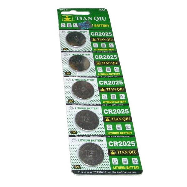 【GU212】環保型鈕扣電池/水銀電池CR2025(一卡5顆)~不拆售 EZGO商城