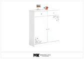 【MK億騰傢俱】BS383-01雪白2.7尺雙抽鞋櫃
