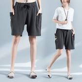 五分褲 胖mm褲子韓版大碼短褲女夏季寬鬆外穿純棉百搭休閒褲
