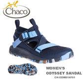 【速捷戶外】美國 Chaco CH-ODW01HF01 越野紓壓水陸鞋-標準 女款(海軍藍)  ODYSSEY ,戶外涼鞋,佳扣