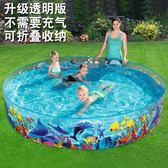 洗澡盆大型可折疊兒童游泳池成人超大家用荷花釣魚養魚池   IGO