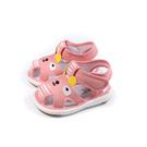 兒童鞋 涼鞋 嗶嗶鞋 童鞋 粉橘色 中童 B035 no181