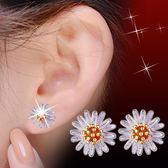 可愛太陽花雛菊銀耳釘女韓國時尚耳環銀耳飾品掛件 女飾《小師妹》ps405