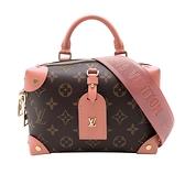 【台中米蘭站】全新展示品 Louis Vuitton PETITE MALLE SOUPLE 手提/斜背/肩背 三用包(M45531-咖)