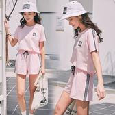 運動套裝運動套裝夏裝時尚純棉休閒學生寬鬆兩件套運動服女夏季潮 寶貝計劃