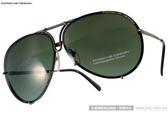 Porsche Design太陽眼鏡 PO8478 C (銀-綠) 率性大框飛行款(附棕水銀鏡片) # 金橘眼鏡