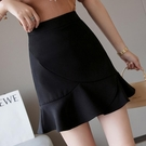 魚尾裙 魚尾裙半身裙子女裝春裝顯瘦防走光a字短裙氣質包臀裙-Ballet朵朵