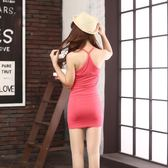 純棉連衣裙女春打底y字吊帶衫內搭襯裙中長款包臀吊帶裙夏背心裙