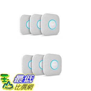 [8美國直購] Nest Protect: 2nd Gen Smoke + CO Alarm 6-pack Bundle