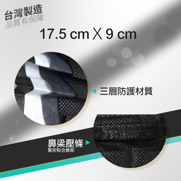 台灣製造 搖滾黑/亮黃/桃紅/藏藍 素面可拋棄式三層防護口罩 40入盒裝 不織布【小紅帽美妝】