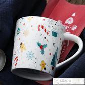 馬克杯 cybil 美式厚實大容量金色圣誕雪人陶瓷早餐杯馬克杯杯子水杯創意 居優佳品