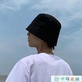 漁夫帽男帽子男水桶帽春夏季秋天素色韓版百搭休閑【千尋之旅】
