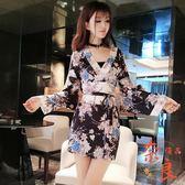 日本女裝夜場性感高腰日式和服氣質包臀連身裙【奈良優品】