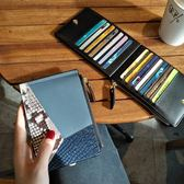 皮質卡包女式多卡位卡片包超薄零錢包女短款新品潮兩折多功能