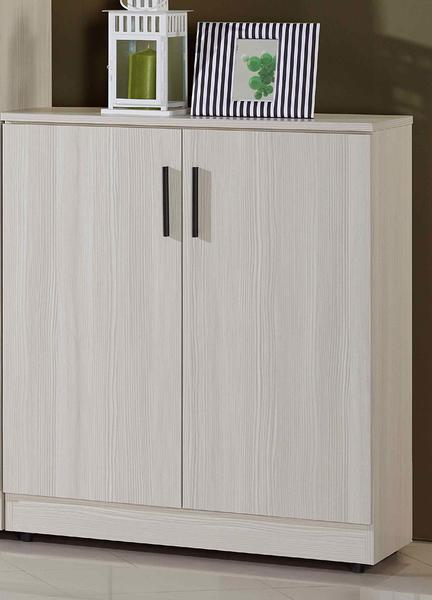 【森可家居】菲爾2.7x3尺雪山白鞋櫃 7JF300-3 木紋質感 刷白 北歐風