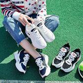 運動鞋 跑步鞋女原宿平底學生韓版透氣百搭休閒女鞋「Chic七色堇」