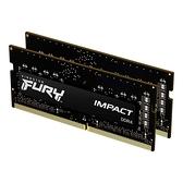 新風尚潮流 【KF432S20IBK2/32】 金士頓 16GB x2 DDR4-3200 筆記型 記憶體 IMPACT
