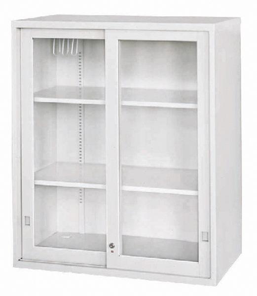 【 IS空間美學】玻璃加框拉門上置式公文櫃