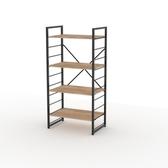 (組)特力屋萊特四層架黑框/淺木紋-80x40x128CM