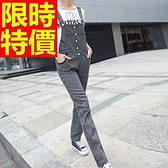 吊帶褲-修身優雅大方女休閒長褲3色59g19【巴黎精品】