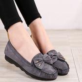 老布鞋女單鞋春秋平底女鞋防滑休閒工作鞋孕婦媽媽鞋豆豆鞋女