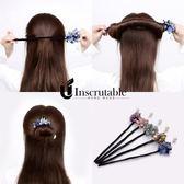 丸子頭盤髮器懶人髮卡女成人韓國百變花苞頭飾品女蓬松造型器神器