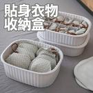 貼身衣物收納盒 淡灰色 (無格/十格)【A615】