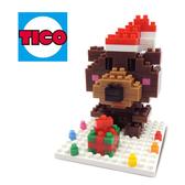 【Tico微型積木】聖誕系列-聖誕熊 T-9224