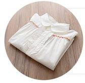 618好康又一發女童白襯衫兒童襯衫上衣