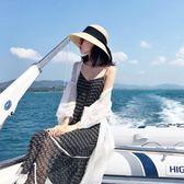 夏裝2018新款女氣質純色百搭燈籠袖蕾絲防曬開衫中長款長袖外套潮禮物限時八九折