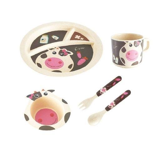 Bamboo Dinner Plate 竹炭纖維餐具-乳牛[衛立兒生活館]