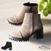 短靴 絨面素雅厚底短靴 MA女鞋 T3186