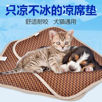 貓墊貓咪涼墊涼席用貓墊子夏涼腳墊不粘毛小草席狗狗夏天狗墊降溫WY 一件免運