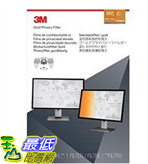 [美國直購] 3M GF240W1B 金色 螢幕防窺片 Privacy Screen Protectors Filter for Widescreen 24.0 - 16:10, 519 mm x 325 mm