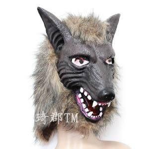 萬聖節全套頭狼頭面具