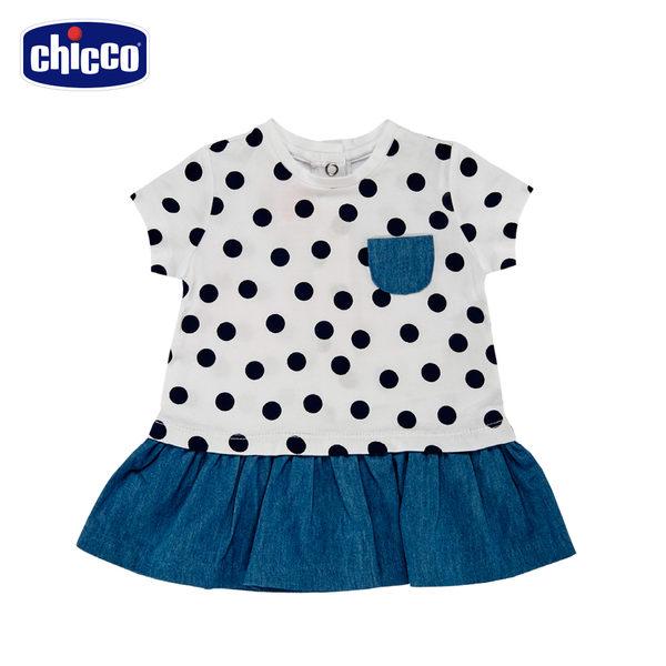 Baby-短袖洋裝-圓點