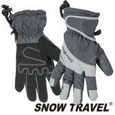 【SNOW TRAVEL 雪之旅】100%英國Ski-Dri 防水透氣超薄手套『灰』AR-73可觸控手套.保暖手套