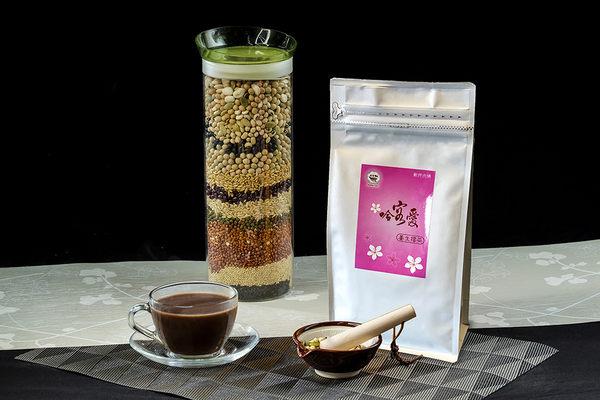 【哈客愛】養生擂茶經濟包--咖啡擂茶 500公克/包(北埔客家擂茶 高纖 低糖 低熱量 即溶好沖泡)