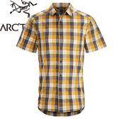 【ARC TERYX 始祖鳥 Brohm SS Shirt Men s 男款 短袖襯衫《橘藍格紋》】17217/短袖襯衫/襯衫/格子★滿額送