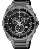 CITIZEN 星辰 Eco-Drive METAL 專屬型男計時腕錶/手錶-IP黑 AT2155-58E