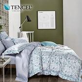 【貝兒居家寢飾生活館】100%萊賽爾天絲兩用被床包組(雙人/春意安然)