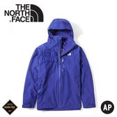 【The North Face 男 GORE-TEX單件式防水外套《國旗藍》】49B6/衝鋒衣/防水外套/風雨衣