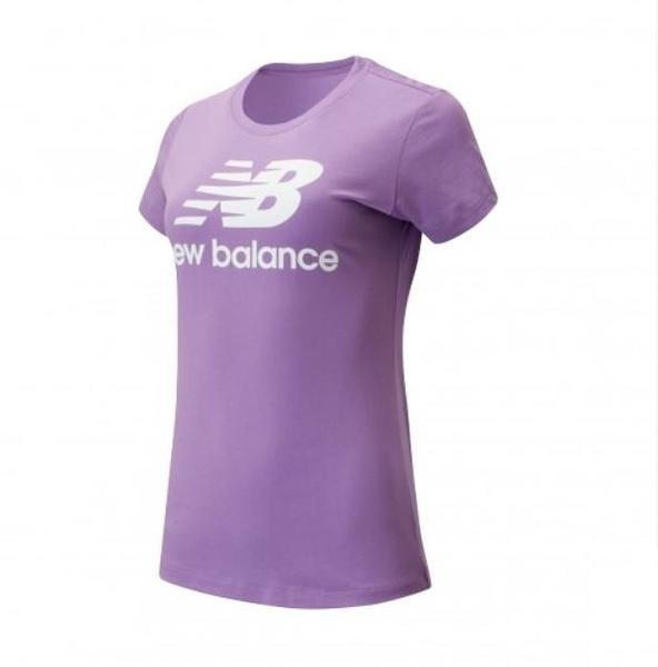 New Balance 女款紫色經典LOGO短袖上衣-NO.AWT91546NVI