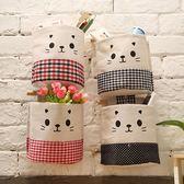 ◄ 生活家精品 ►【N67】棉麻自由組合收納掛袋(單入) 懸掛 雜貨 置物 壁掛式 牆掛式 門後 臥室